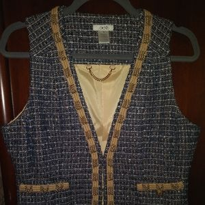 Cache navy and gold vest. Size 10
